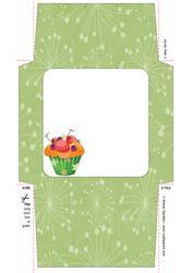 Delightful Cupcake 5x5 Envelope