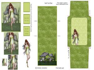 Woodland Fairy Pyramid Easel Card Kit