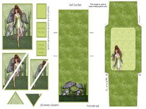 Woodland Fairy Corner Stacker Easel Card Kit