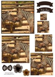 Zebra Watercolour Pyramid Topper