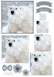 Polar Bear Watercolour Pyramid Topper