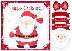 Christmas Jolly Santa 8x8 Topper & Embellishments