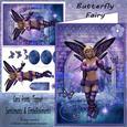 Butterfly Fairy Card Front & Decoupage A4 Mini Kit
