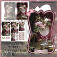 Beautiful Painted Flowers Shaped Card Mini Kit