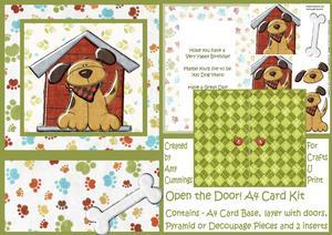 Open the Door! A4 Doggy Design Card Kit
