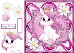 Beautiful Purple Horse 8x8