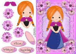 Beautiful Pink & Blue Princess