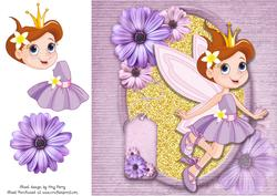 Beautiful Lilac Fairy 8x8