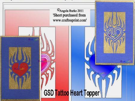 Tattoo Heart Topper GSD