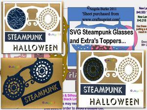 Steampunk 2 Glasses SVG