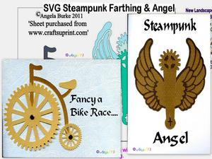 Steampunk 7 Farthing & Angel SVG