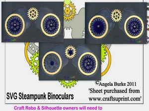Steampunk 8 Binoculars SVG