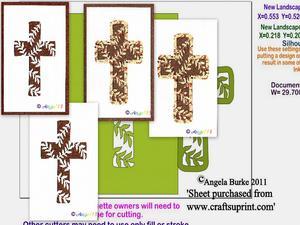 Leaf Cross Topper SVG