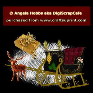 Christmas Sleigh Template