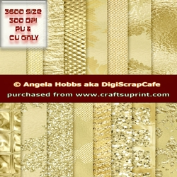Gold Embellished Digital Background Papers Sparkle Glitter JPEG Scrapbook Journal Crafts