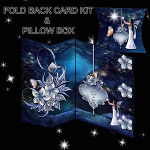 No Hole Fold Back Card Kit-blue Fairy- and Pillow Box