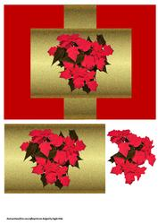 Christmas Poinsettia Swing Card