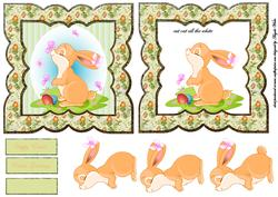 Easter Rabbit with Flutters Butterfly