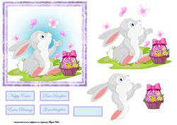 Butterflies Around the Rabbit at Easter