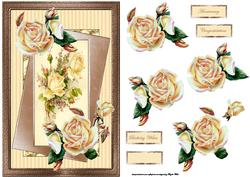 Golden Roses Anniversary Card and Decoupage