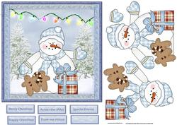 Snowman and Gingerbread Men Card
