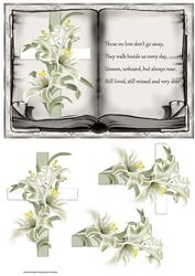 Cross and Lily Vintage Book Topper and Decoupage
