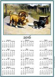 Puppy and the Kitten 2016 Calendar