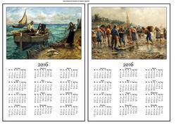 Fisherman A5 2016 Calendars