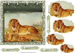 King Lion 7x7 Card with Pyramid Layers