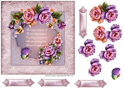 Enchanted Garden 7x7 Card with Decoupage