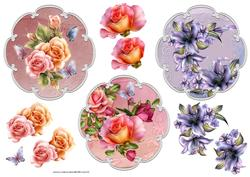 Variety of Toppers with Decoupage