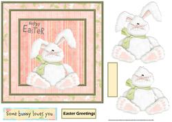 Easter Bunny 7x7 Card with Decoupage