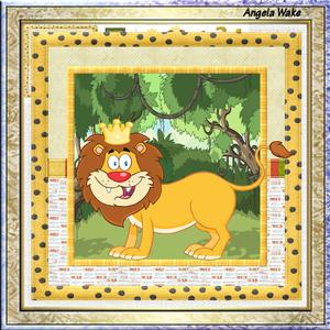 Lion King of the Zoo 7.5 x 7.5 Card