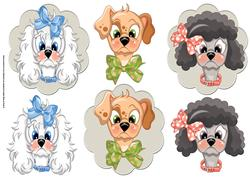Dog Head Toppers with Add Ons