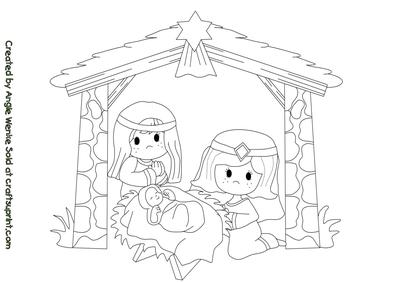 Nativity Digital Stamp #1
