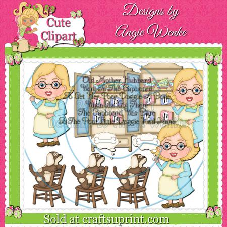 Mother Hubbard Clipart & Digital Stamps Blonde