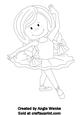 Ballerina Girl Digital Stamp