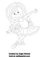 Ballerina Girl Digital Stamp 2