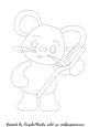 Mice First Tooth Digital Stamp 2