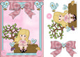 Blonde Log Greeting Card 3