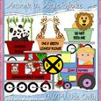 Zoo Train Clipart