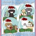 Christmas Kitty Snowglobe