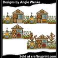Fall Cottages Clipart