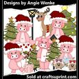 Pig Christmas Clipart