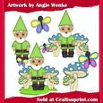 Garden Gnomes Boys Green