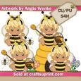 Bumblebee Girls Clipart Blonde