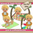 Summer Boys Clipart Blonde 2
