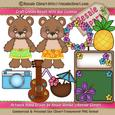 Hawaii Vacation Bears Clipart Boys 2