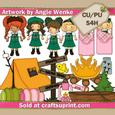 Lil Girls Scouts Clipart 2