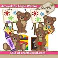 Back to School Bears Clipart